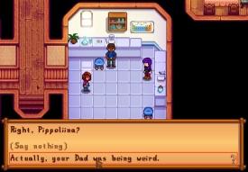 Creepy dad was being creepy.