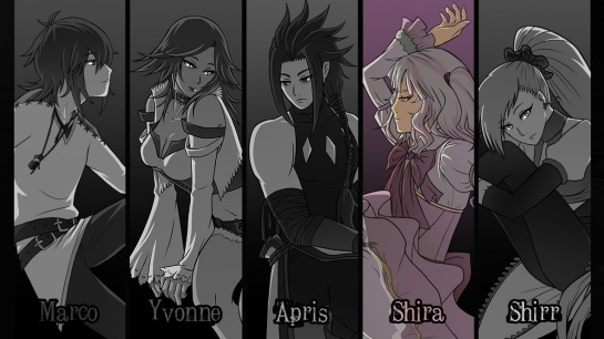 The cast of main characters.